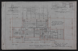 First Floor Framing Plan, Drawings of House for Mrs. Talbot C. Chase, Brookline, Mass., Oct. 7, 1929