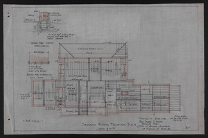 Second Floor Framing Plan, Drawings of House for Mrs. Talbot C. Chase, Brookline, Mass., Oct. 7, 1929
