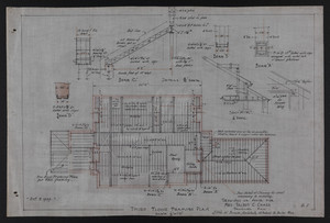 Third Floor Framing Plan, Drawings of House for Mrs. Talbot C. Chase, Brookline, Mass., Oct. 7, 1929