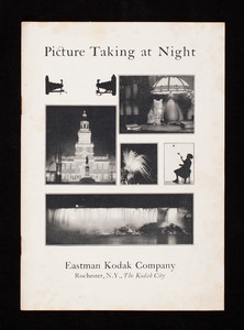 Picture taking at night, published by Eastman Kodak Company, Rochester, New York
