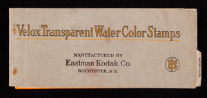 Velox Transparent Water Color Stamps, manufactured by Eastman Kodak Co., Rochester, New York