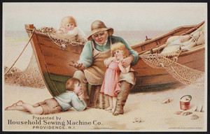 Trade card for the Household Sewing Machine Co., Providence, Rhode Island, 1890