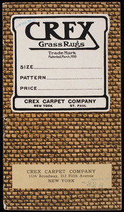 Crex Grass Rugs, Crex Carpet Company, 1134 Broadway, 212 Fifth Avenue, New York, New York