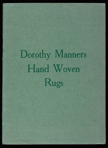 Dorothy Manners Hand Woven Rugs, The Old Colony Weavers, Germantown, Pennsylvania