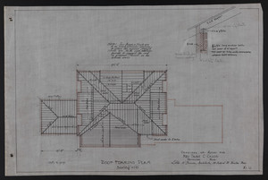 Roof Framing Plan, Drawings of House for Mrs. Talbot C. Chase, Brookline, Mass., Oct. 7, 1929