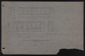 Details of Second Floor Corridor, Drawings of House for Mrs. Talbot C. Chase, Brookline, Mass., Sept. 6, 1929 and October 7, 1929