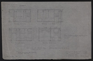 Details of Main Hall (Revised From Drawing No. 16), Drawings of House for Mrs. Talbot C. Chase, Brookline, Mass., Dec. 23, 1929