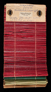 Standard color matchstick drape samples for Bailey and Weston, Inc., Boston, Mass.