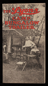 Lyons Camp Bungalow Trailer, F.P. Lyons, Inc., manufacturers, Manchester, New Hampshire