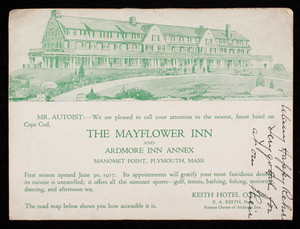 Mayflower Inn and Ardmore Inn Annex, Manomet Point, Plymouth, Mass.