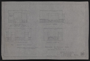 Details of Dining Room, (This Drawing Supercedes No. 15), Drawings of House for Mrs. Talbot C. Chase, Brookline, Mass., Feb. 15, 1930