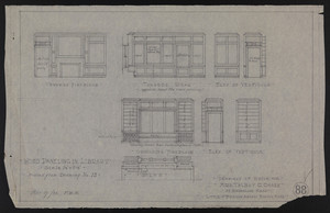 Wood Paneling in Library, Revised From Drawing No. 13, Drawings of House for Mrs. Talbot C. Chase at Brookline, Mass., Mar. 17, 1930