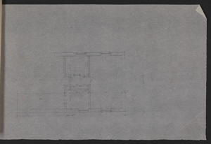 Unfinished floor plan on trace, residence for Mrs. Talbot C. Chase, Brookline, Mass., undated