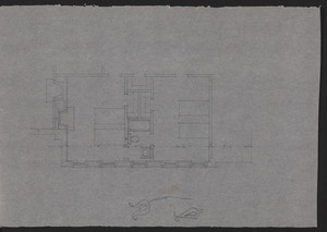 Unfinished sketch on trace, residence for Mrs. Talbot C. Chase, Brookline, Mass., undated