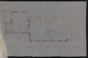 Untitled floor plan on trace, residence for Mrs. Talbot C. Chase, Brookline, Mass., undated