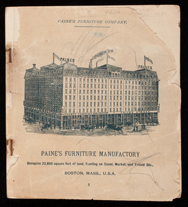 Catalog, Paine's Furniture Company, Canal, Market and Friend Streets, Boston, Mass.