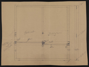 Untitled window sketch, residence for Mrs. Talbot C. Chase, undated