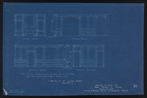 Details of Living Room, Drawings of House for Mrs. Talbot C. Chase, Brookline, Mass., Sept. 4, 1929 and October 7, 1929