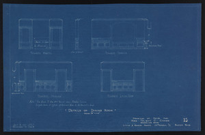 Details of Dining Room, Drawings of House for Mrs. Talbot C. Chase, Brookline, Mass., Sept. 4, 1929 and October 7, 1929