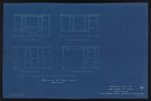 Details of Main Hall, Drawings of House for Mrs. Talbot C. Chase, Brookline, Mass., Sept. 5, 1929 and October 7, 1929