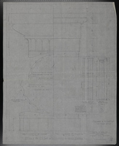 Details of Column & Pilaster, Front Loggia, Drawings of House for Mrs. Talbot C. Chase, November 4, 1929