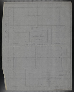 F.S.D. of All Window Sills and F.S.D. of Exterior Door Sills, Drawings of House for Mrs. Talbot C. Chase, Nov. 4, 1929