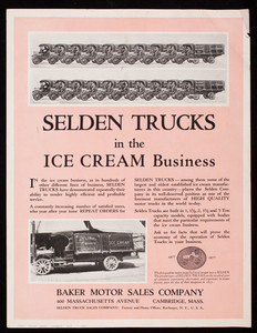 Selden Trucks in the ice cream business, Selden Truck Corporation, Rochester, New York