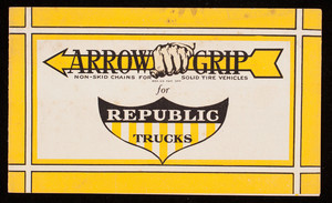 Arrow Grip for Republic Trucks, Arrow Grip Manufacturing Company, Glens Falls, New York