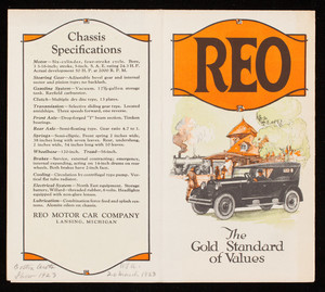 Reo, the gold standard of values, Reo Motor Car Company, Lansing, Michigan