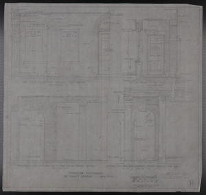 Interior Elevations of Front Loggia, Drawings of House for Mrs. Talbot C. Chase, Brookline, Mass., Nov. 9, 1929