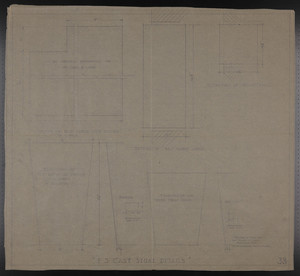 F.S. Cast Stone Details, Drawings of House for Mrs. Talbot C. Chase, Brookline, Mass., undated