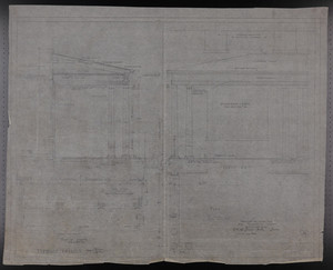 Terrace Details, Drawings of House for Mrs. Talbot C. Chase, Brookline, Mass., Nov. 21, 1929