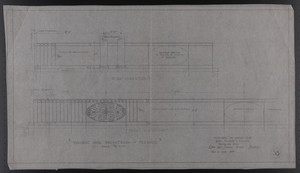 Wrought Iron Balustrade, Terrace, Drawings of House for Mrs. Talbot C. Chase, Brookline, Mass., Nov. 21, 1929
