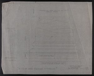 F.S.D. of Wood Columns, Terrace, Drawings of House for Mrs. Talbot C. Chase, Brookline, Mass., undated