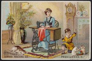 Trade card for the Household Sewing Machine, Providence, Rhode Island, undated