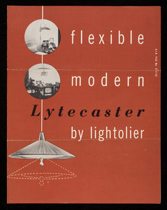 Flexible modern Lytecaster by Lightolier, 11 East 36th Street, New York City and 1267 Merchandise Mart, Chicago, Illinois
