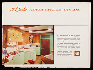 St. Charles custom kitchen styling, St. Charles Manufacturing Co., St. Charles, Illinois
