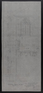 Sleeping Porch Details, Drawings of House for Mrs. Talbot C. Chase, Brookline, Mass., undated
