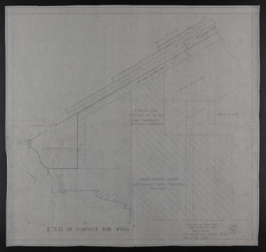 F.S.D. of Cornice for Wing, Drawings of House for Mrs. Talbot C. Chase, Brookline, Mass., Dec. 3-6, 1929