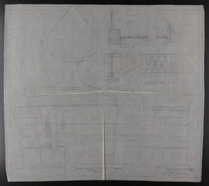 Balustrade Details, Roof, Drawings of House for Mrs. Talbot C. Chase, Brookline, Mass., Dec. 5, 1929