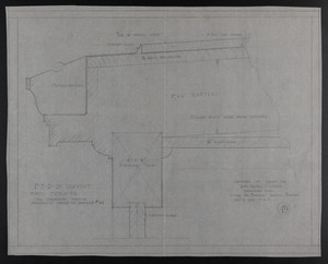 F.S.D. of Servant Porch Cornice, Drawing of House for Mrs. Talbot C. Chase, Brookline, Mass., Dec. 5, 1929