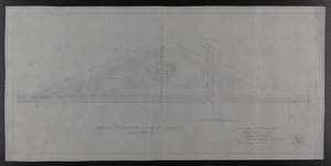 Detail of Pediment, Front Elevation, Drawings of House for Mrs. Talbot C. Chase, Brookline, Mass., Dec. 10, 1929