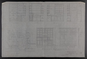 Details of Pantry, Servants Hall & Rear Stair Hall, Drawings of House for Mrs. Talbot C. Chase, Brookline, Mass., January 5-7, 1930