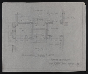 Fireplace Details, Main Hall & Library, Drawings of House for Mrs. Talbot C. Chase, Brookline, Mass., January 15-22, 1930