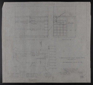 Details of Coat Room 1st Fl., Drawings of House for Mrs. Talbot C. Chase, Brookline, Mass., January 17, 1930 and Feb. 4, 1930