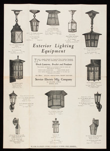 Exterior lighting equipment, Service Electric Manufacturing Co., 564 Atlantic Avenue, near South Station, Boston, Mass.