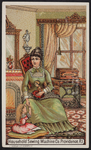 Trade cards for the Household Sewing Machine Co., Providence, Rhode Island, undated