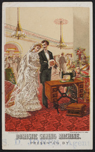 Trade card for the Domestic Sewing Machine Co., Boston, Mass., 1882
