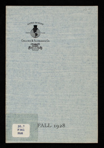 Fall styles, 1928, Collins & Fairbanks Co., 383 Washington Street, 16 Bromfield Street, Boston, Mass.