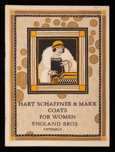 Hart Schaffner & Marx coats for women for fall and winter 1924-25, Chicago and New York